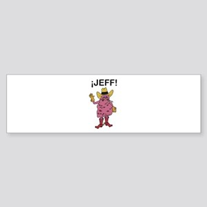 Jeff the Diseased Lung Bumper Sticker