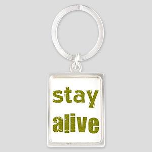 Stay Alive Portrait Keychain