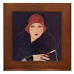 Art Deco Flapper Framed Tile