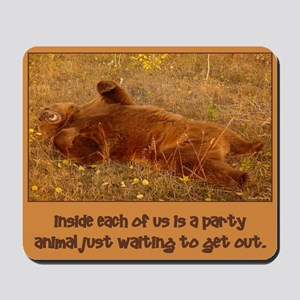 Grizzly Party Animal Mousepad