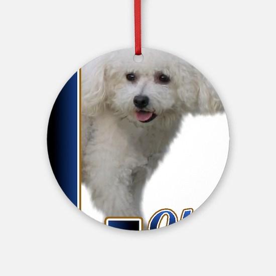 Bichon Frise Love Ornament (Round)