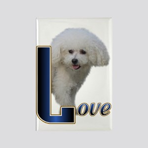 Bichon Frise Love Rectangle Magnet (10 pack)