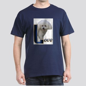Bichon Frise Love Dark T-Shirt