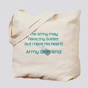 Army Girlfriend Heart Tote Bag