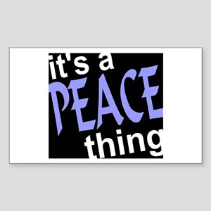 Peace Thing Rectangle Sticker