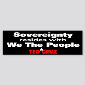 Sovereignty Resides - Ted Cruz Quote Sticker (Bump