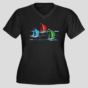 Yacht Race copy Plus Size T-Shirt