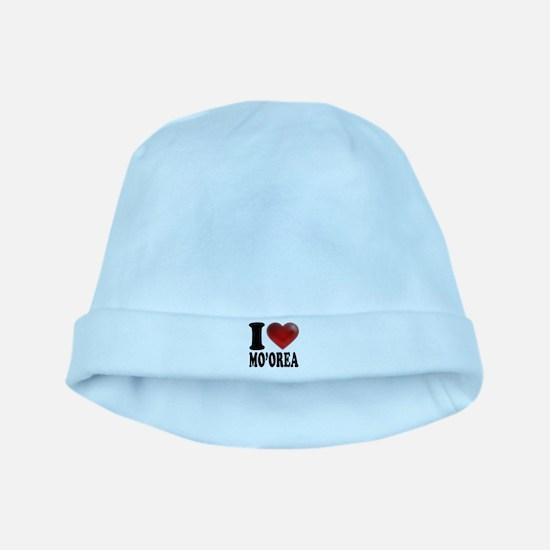 I Heart Moorea baby hat