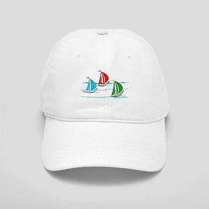 Three Yachts Racing Baseball Cap