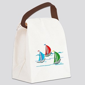 Three Yachts Racing Canvas Lunch Bag