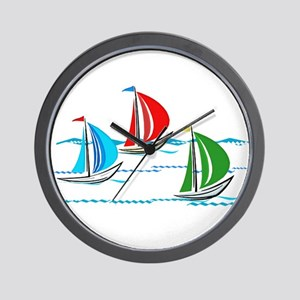 Three Yachts Racing Wall Clock