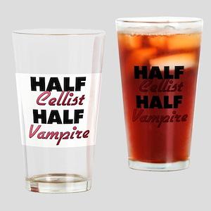 Half Cellist Half Vampire Drinking Glass