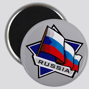 """""""Russia Star Flag"""" Magnet"""
