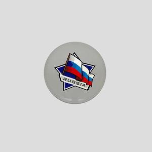 """""""Russia Star Flag"""" Mini Button"""