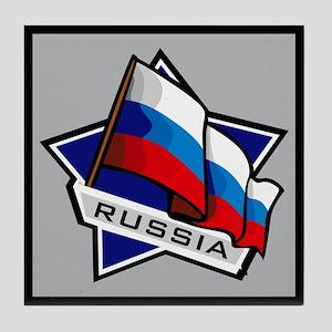 """Russia Star Flag"" Tile Coaster"