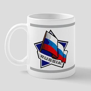 """""""Russia Star Flag"""" Mug"""