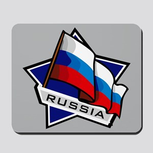 """Russia Star Flag"" Mousepad"