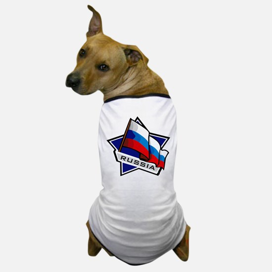 """Russia Star Flag"" Dog T-Shirt"