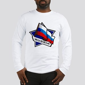 """Russia Star Flag"" Long Sleeve T-Shirt"