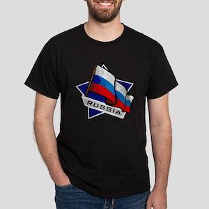 """Russia Star Flag"" Dark T-Shirt"