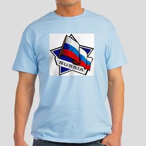 """Russia Star Flag"" Light T-Shirt"