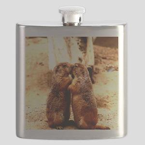 Love and Kissing Prairie Dog Flask