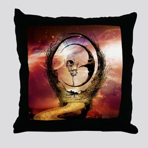 Dancing on the moon in the night Throw Pillow