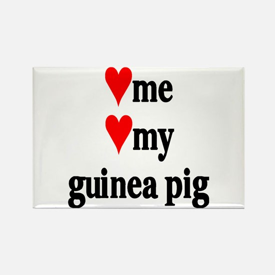 LOVE ME LOVE MY GUINEA PIG Rectangle Magnet