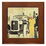 Art Deco Rendevous Framed Tile