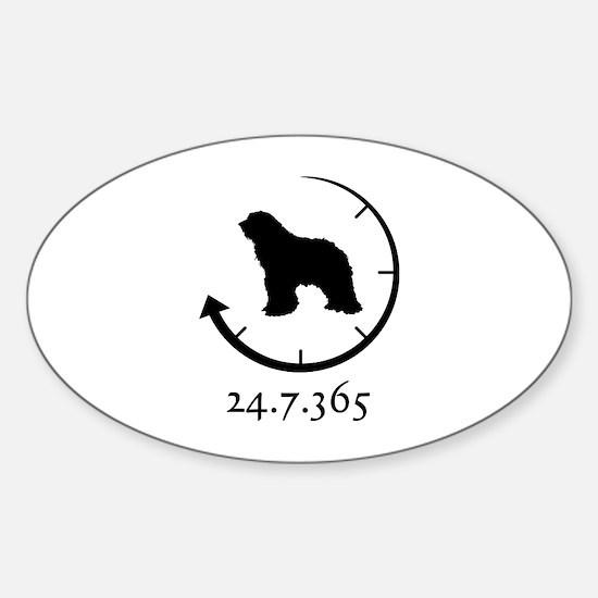Bergamasco Sheepdog Sticker (Oval)