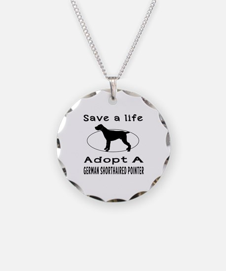 Adopt A German Shorthaired Pointer Dog Necklace