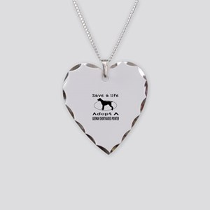 Adopt A German Shorthaired Pointer Dog Necklace He