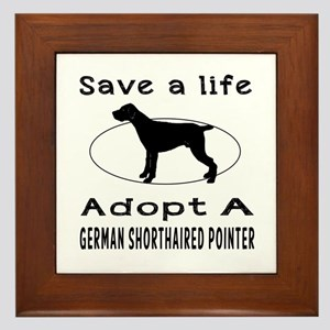 Adopt A German Shorthaired Pointer Dog Framed Tile