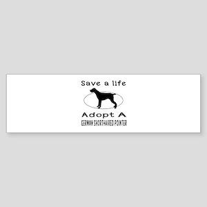 Adopt A German Shorthaired Pointer Dog Sticker (Bu