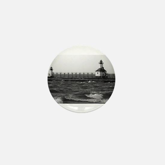 lighthouse b/w Mini Button