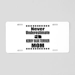 Kerry Blue Terrier Mom Aluminum License Plate