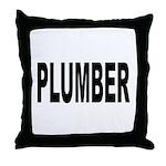 Plumber Throw Pillow