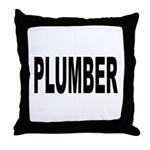 Plumber Throw Pillow