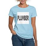 Plumber Women's Pink T-Shirt