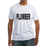 Plumber (Front) Fitted T-Shirt