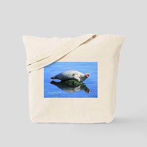 Yawning Seal Tote Bag