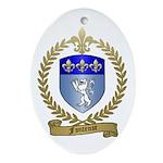FONTENOT Family Crest Oval Ornament