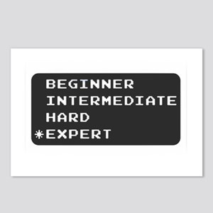 Which level are you? expert.  Postcards (Package o