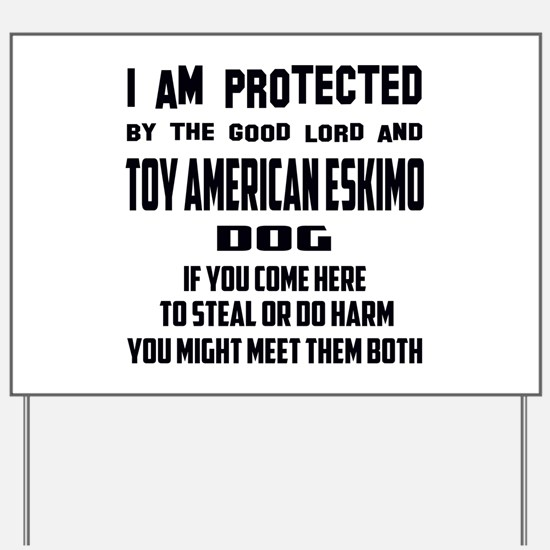 I am protected by the good lord and Toy Yard Sign
