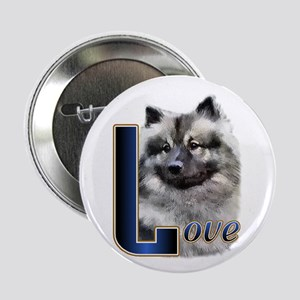 """Keeshond Love 2.25"""" Button (10 pack)"""