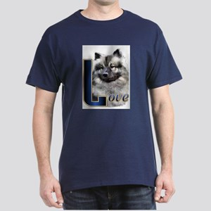 Keeshond Love Dark T-Shirt