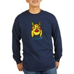 Funky Frenchie Long Sleeve Dark T-Shirt
