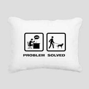 Australian Kelpie Rectangular Canvas Pillow