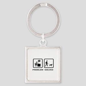 Australian Kelpie Square Keychain
