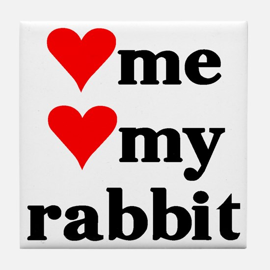 LOVE ME LOVE MY RABBIT Tile Coaster
